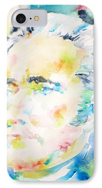 Alexander Hamilton - Watercolor Portrait IPhone Case by Fabrizio Cassetta