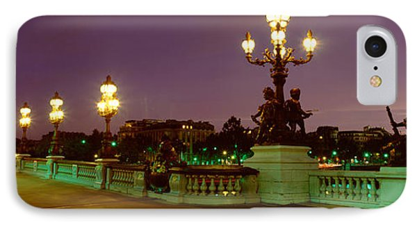 Alexander IIi Bridge, Paris, France IPhone Case by Panoramic Images