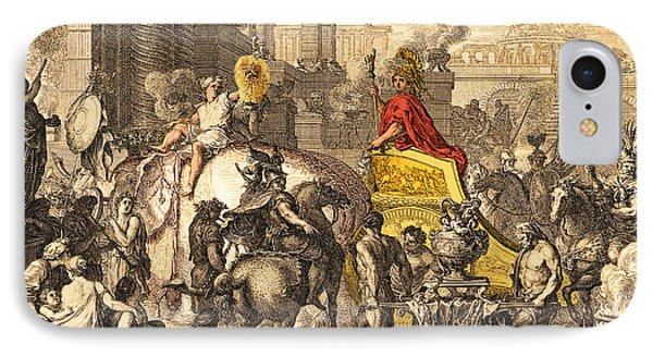 Alexander The Great Entering Babylon Phone Case by Getty Research Institute