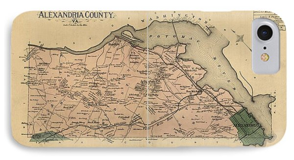 Alexandria Virginia 1878 IPhone Case by Joseph Hawkins