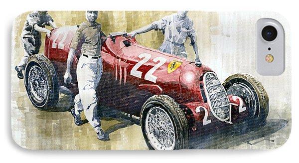 Alfa Romeo 12c-36 Tazio Nuvolari Coppa Ciano Race 1937 IPhone Case by Yuriy  Shevchuk