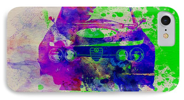 Alfa Romeo Front Watercolor 1 IPhone Case by Naxart Studio