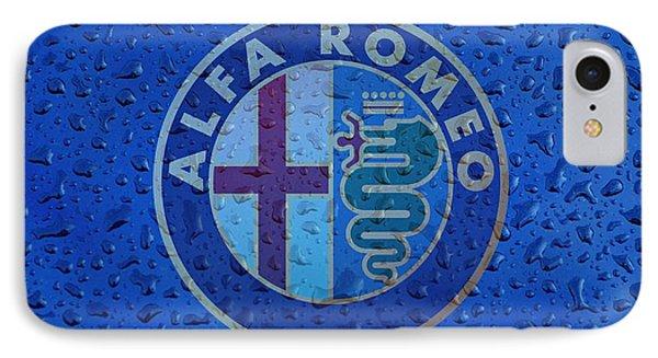 Alfa Romeo Rainy Window Visual Art IPhone Case by Movie Poster Prints