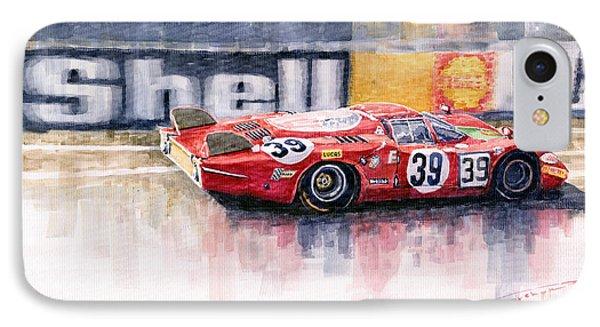 Alfa Romeo T33 B2 Le Mans 24 1968 Galli Giunti IPhone Case
