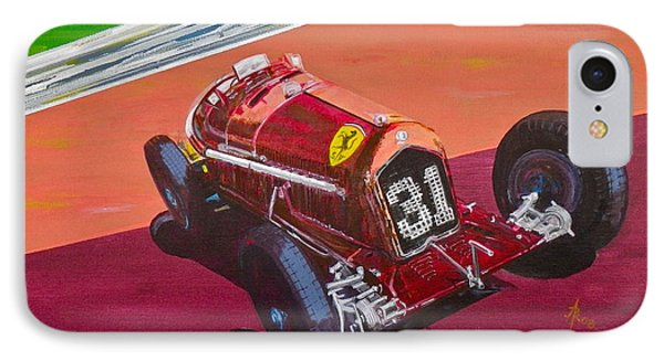 IPhone Case featuring the painting Alfa Romeo Tipo B P3  by Anna Ruzsan