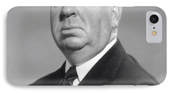 Alfred Hitchcock IPhone Case by Daniel Hagerman