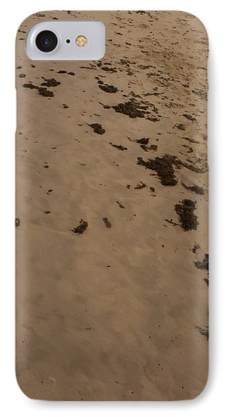 Algae Trail In The Sand Phone Case by Sandra Pena de Ortiz
