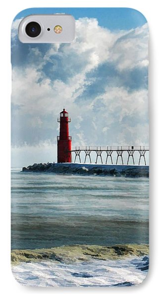 Algoma Pierhead Lighthouse IPhone Case by Christopher Arndt