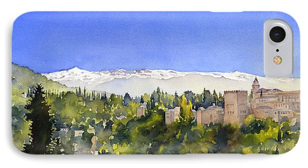 Alhambra Granada Phone Case by Margaret Merry
