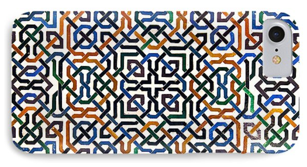 Alhambra Tile Detail IPhone Case by Jane Rix