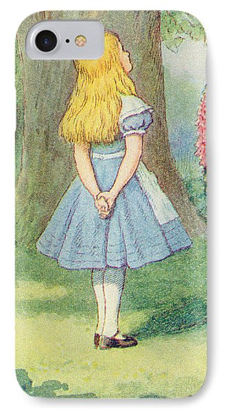 Alice In Wonderland IPhone Case by John Tenniel