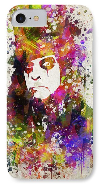 Alice Cooper In Color IPhone Case by Aged Pixel