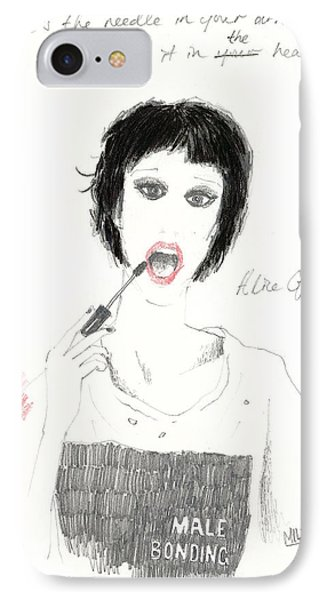 Alice Glass IPhone Case by Mils Gan