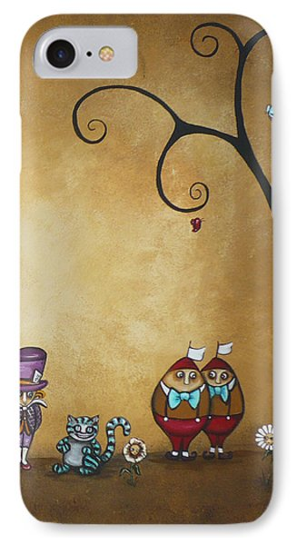 Alice In Wonderland Art - Encore - II Phone Case by Charlene Zatloukal