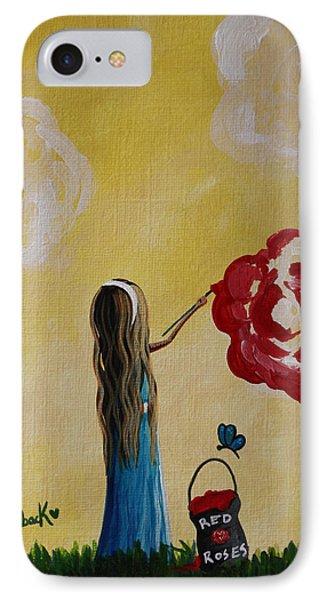 Alice In Wonderland Original Artwork IPhone Case by Shawna Erback