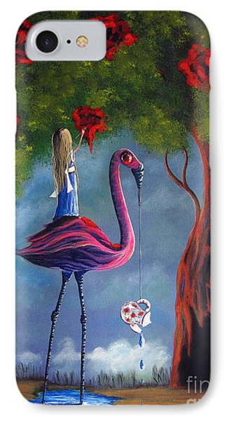 Alice In Wonderland Artwork  IPhone Case by Shawna Erback