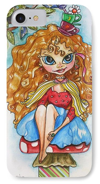 Alice In Wonderland IPhone Case by Shelley Overton
