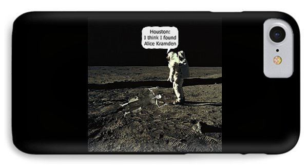 Alice Kramden On The Moon IPhone Case by David Dehner