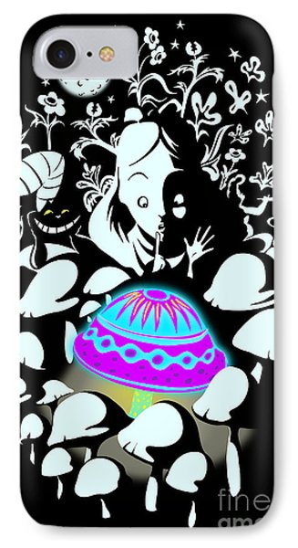 Alice's Magic Discovery IPhone Case by Sassan Filsoof