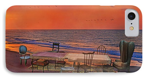 Alice's Topsail Island Tea IPhone Case by Betsy Knapp