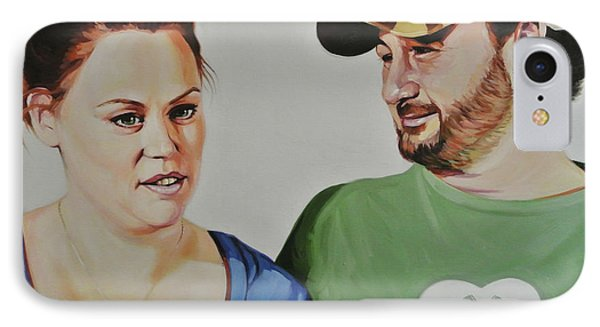Alicia And Brian IPhone Case by Steve Hunter