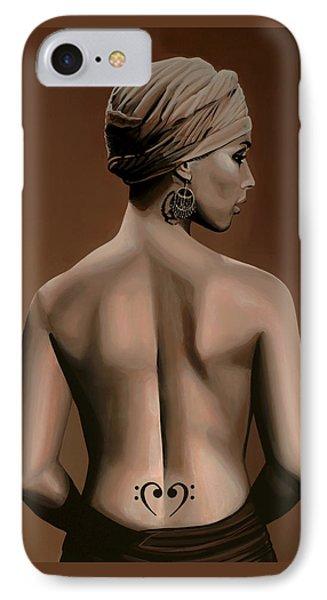 Rhythm And Blues iPhone 7 Case - Alicia Keys  by Paul Meijering