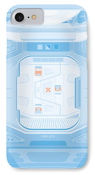 Alien 1979 Poster - Airlock Phone Case by Peter Cassidy
