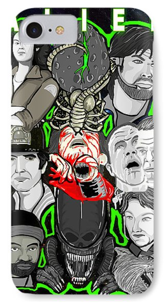 Alien 35th Anniversary Collage Phone Case by Gary Niles
