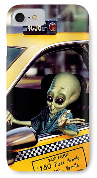 Alien Cab IPhone 7 Case by Steve Read
