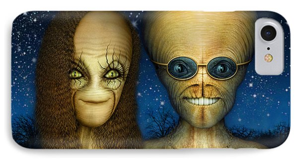 Alien Couple IPhone Case