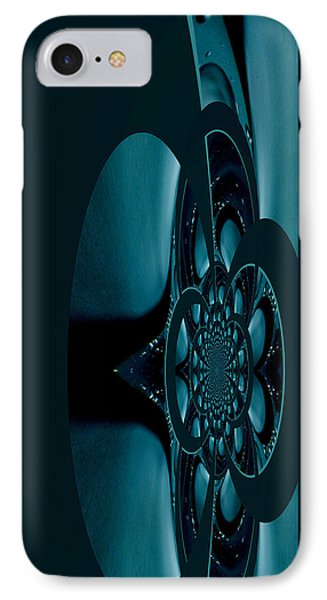 IPhone Case featuring the painting Alien Craft Iphone Case by Robert Kernodle