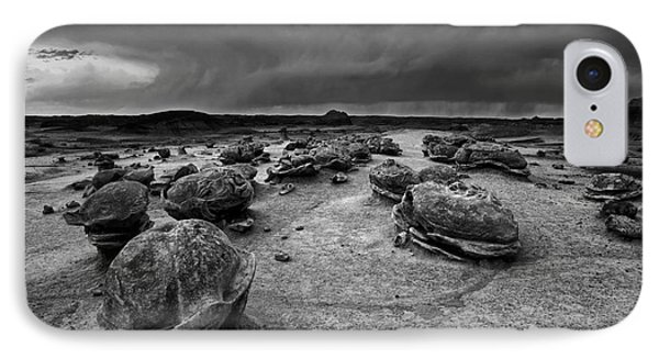 Alien Eggs At The Bisti Badlands IPhone Case by Keith Kapple