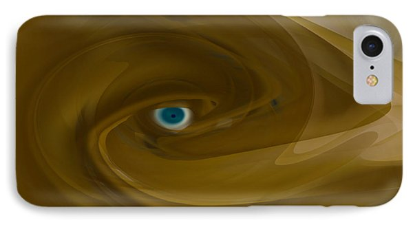 IPhone Case featuring the digital art Alien Eye - Abstract by rd Erickson