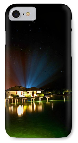 Alien Light At The Tropical Resort Phone Case by Jenny Rainbow