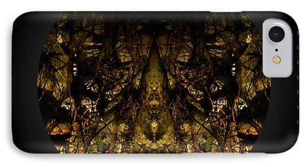 IPhone Case featuring the digital art Alien Moth God Priest by Christophe Ennis