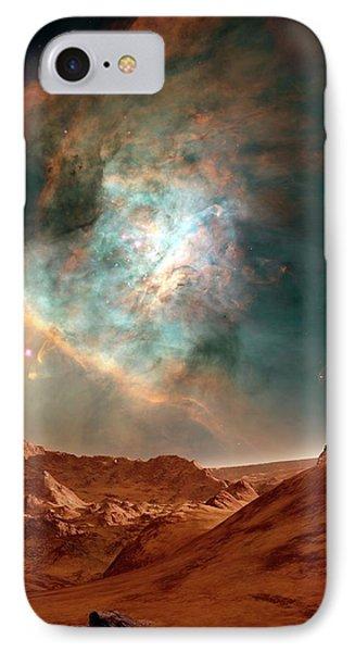 Alien Planet And Orion Nebula IPhone Case by C. R. O'dell-vanderbilt University, Nasa, And Esa/detlev Van Ravenswaay