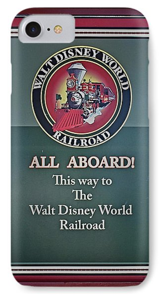 All Aboard Sign Phone Case by Thomas Woolworth