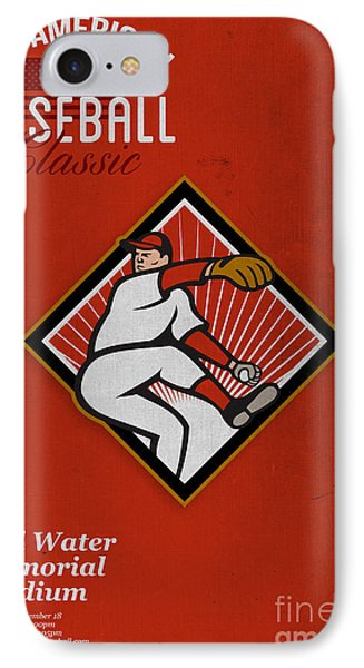 All American Baseball Classic Vintage Poster Phone Case by Aloysius Patrimonio
