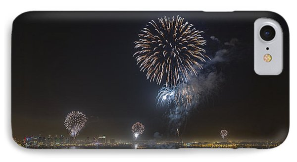 All At Once San Diego Fireworks IPhone Case by Scott Campbell