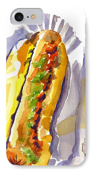 All Beef Ballpark Hot Dog With The Works To Go In Broad Daylight Phone Case by Kip DeVore