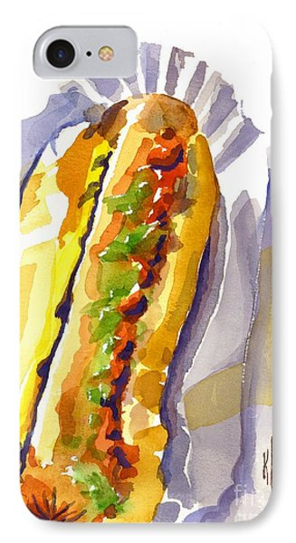 All Beef Ballpark Hot Dog With The Works To Go In Broad Daylight IPhone Case