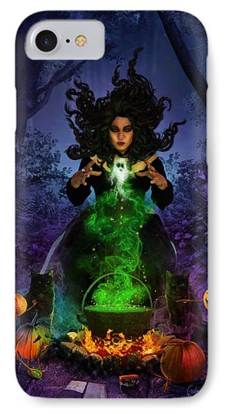 All Hallows Eve IPhone Case by Cassiopeia Art
