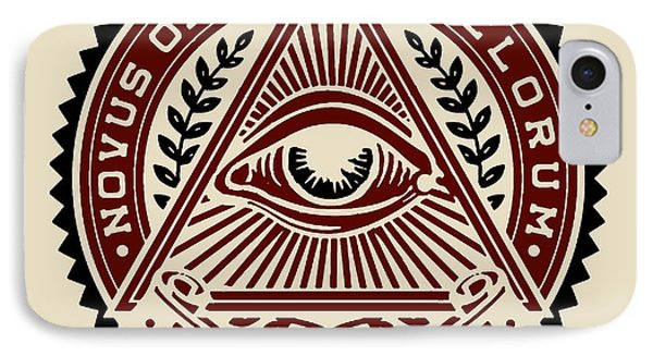 IPhone Case featuring the digital art All Seeing Eye by Vagabond Folk Art - Virginia Vivier