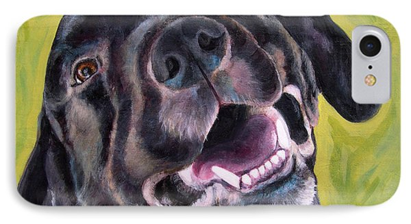 All Smiles Black Dog IPhone Case