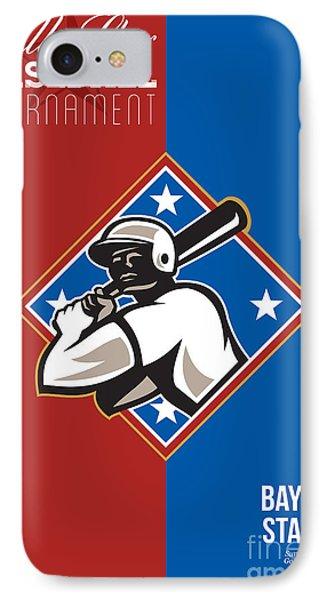 All Star Baseball Tournament Retro Poster Phone Case by Aloysius Patrimonio