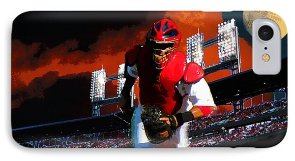 IPhone Case featuring the photograph All Star Yadier Molina by John Freidenberg