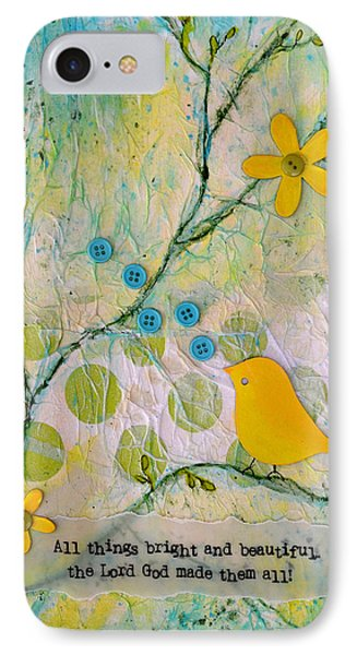 All Things Bright And Beautiful IPhone Case by Carla Parris