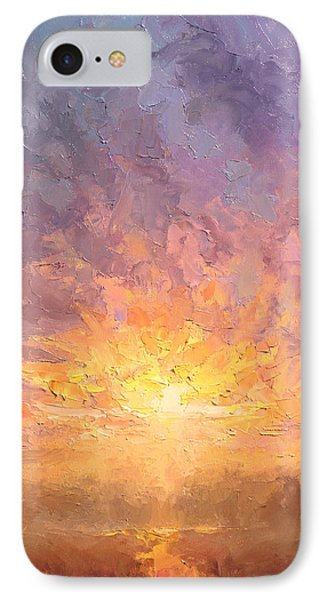 Impressionistic Sunrise Landscape Painting IPhone Case