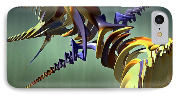 IPhone Case featuring the digital art All Twisted Up by Melissa Messick