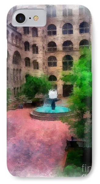 Allegheny County Courthouse Courtyard Phone Case by Amy Cicconi